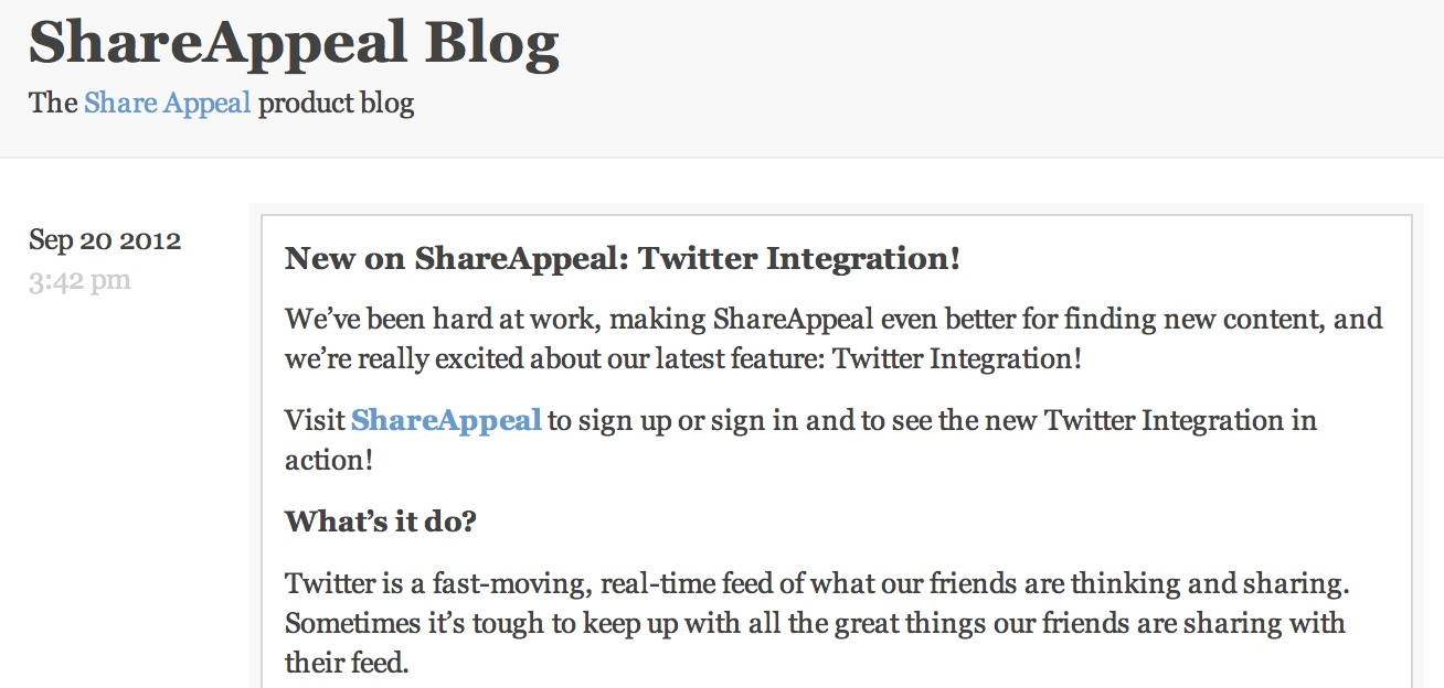 ShareAppeal Blog