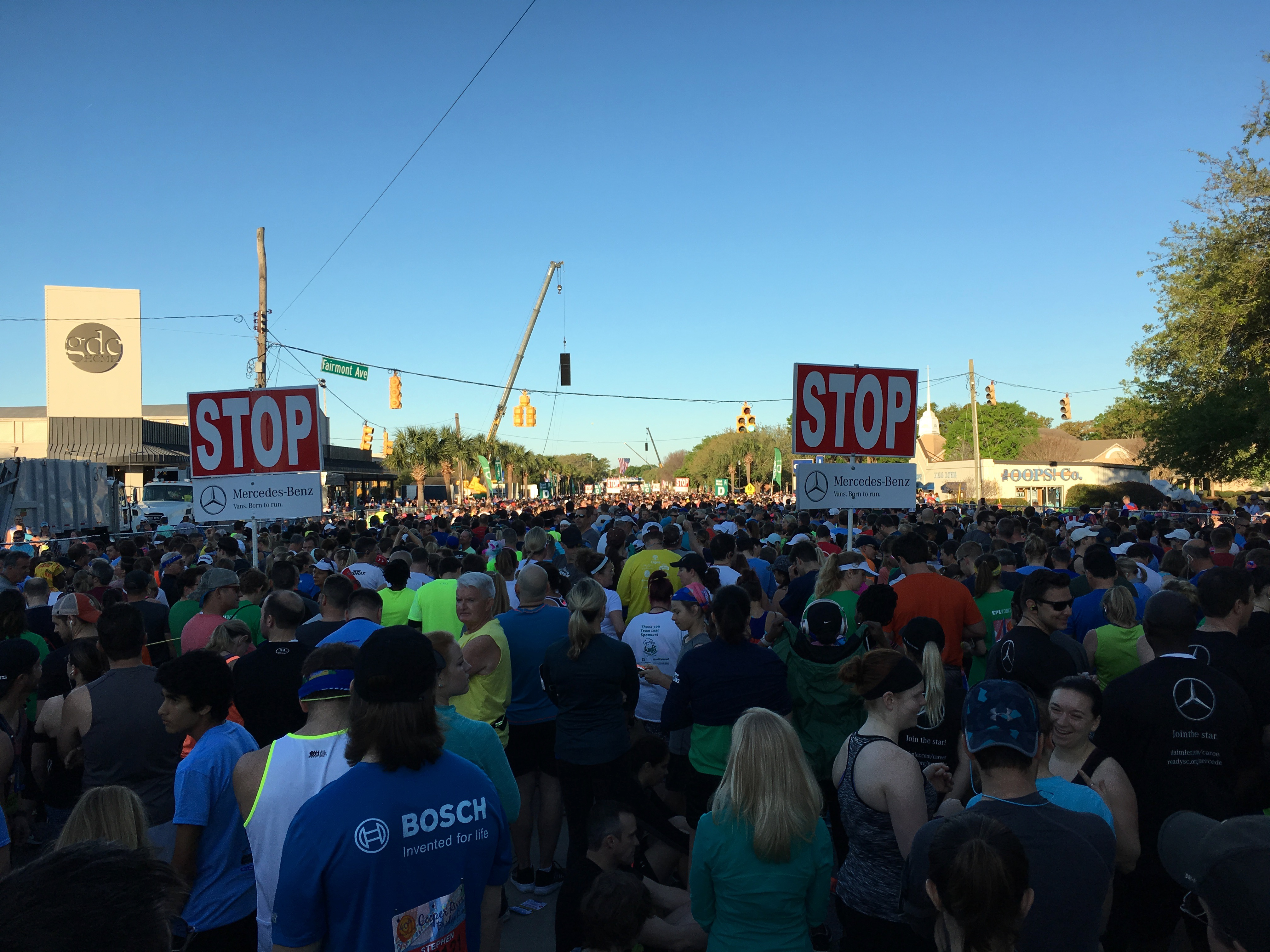Cooper River Bridge 10k starting line