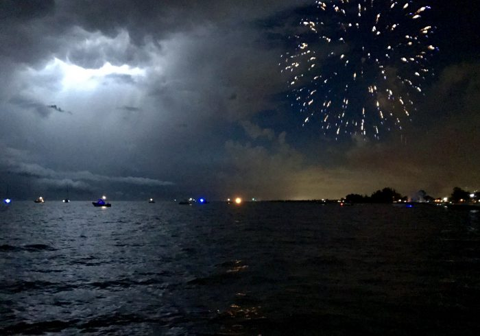 Two Sets of Fireworks
