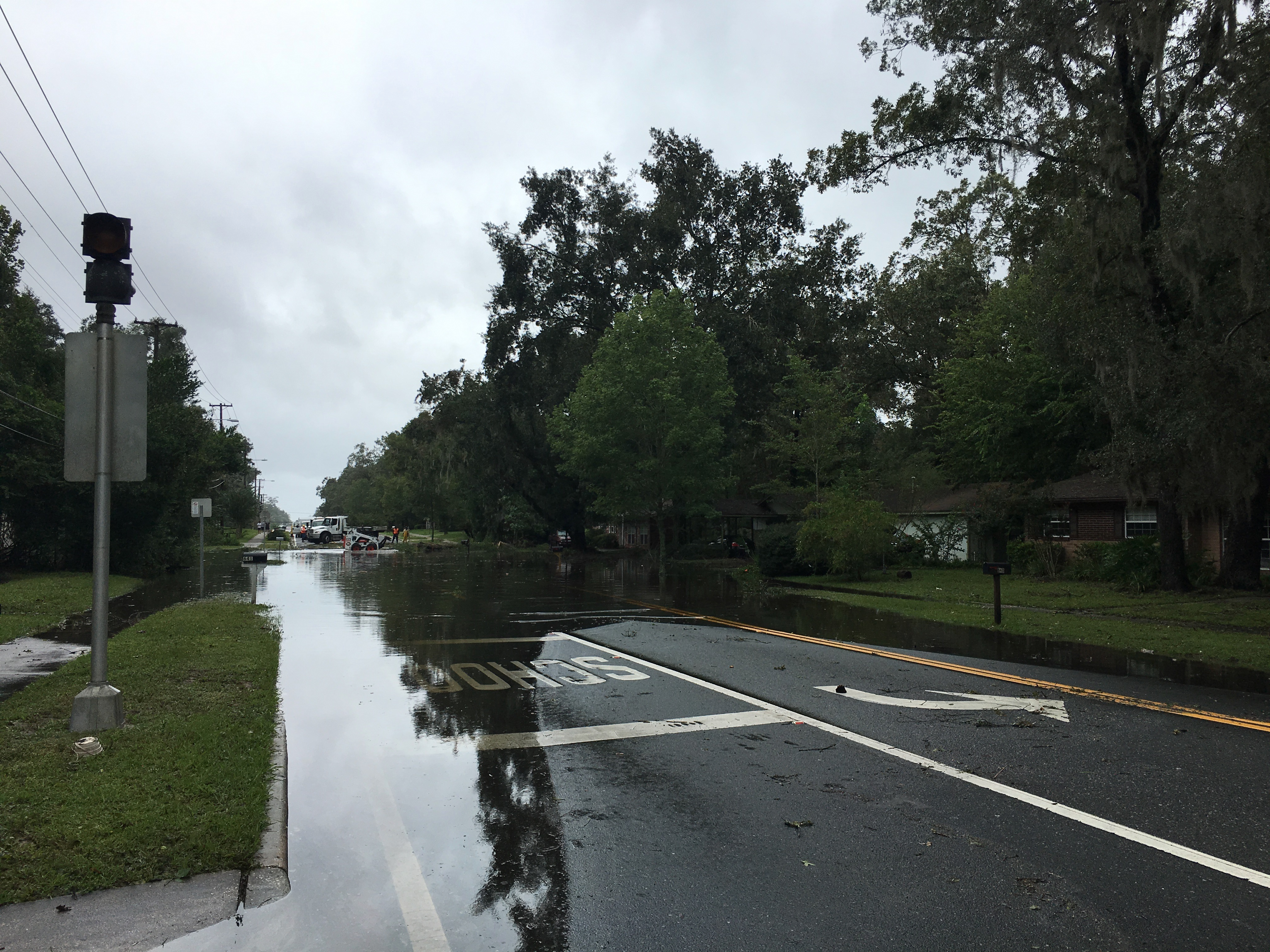 A Gainesville, FL street flooded during Irma