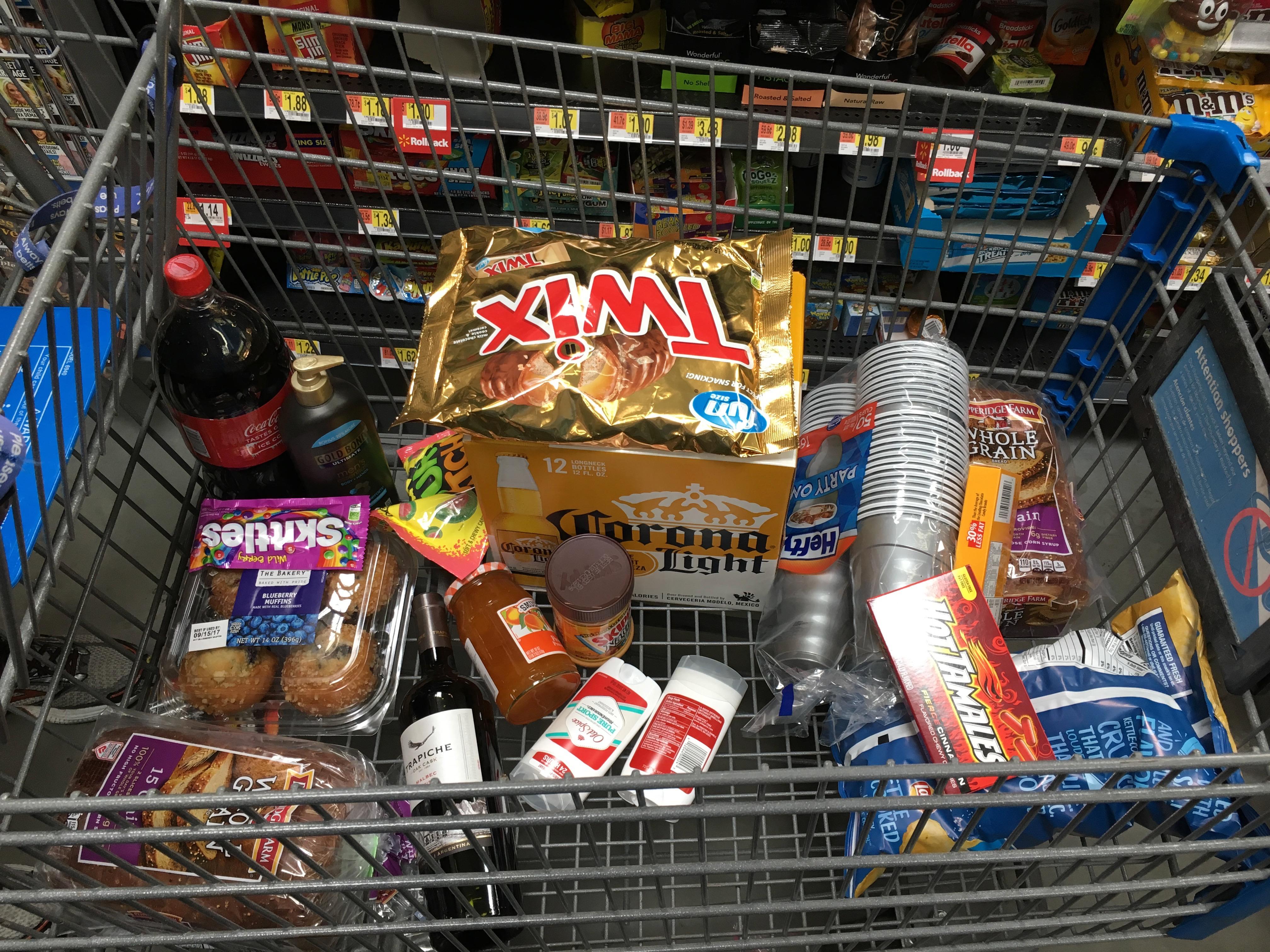 Groceries for hurricane Irma prep