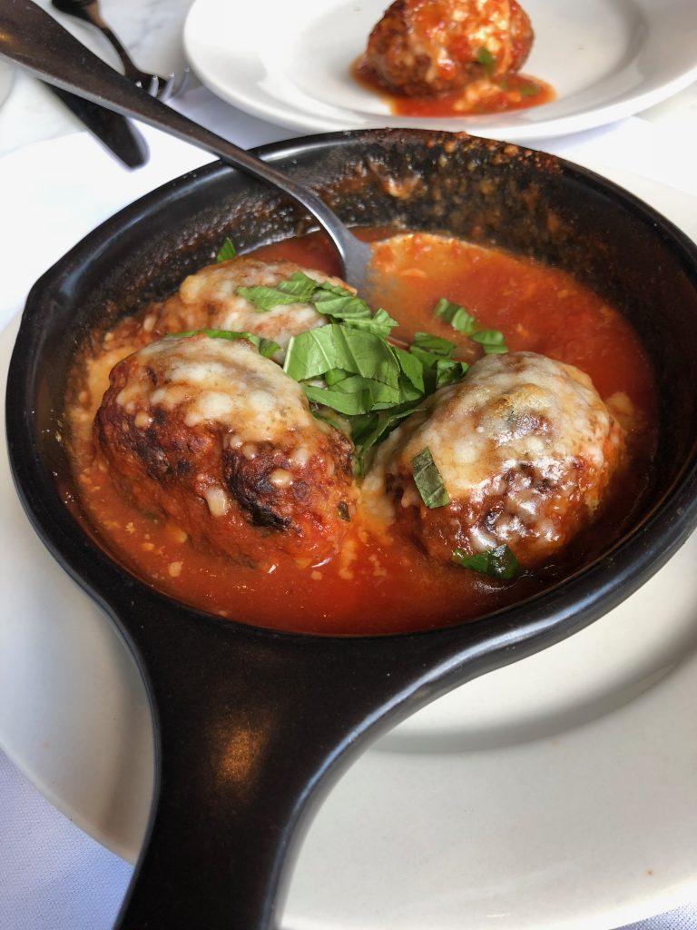 Carmelina's meatball appetizer