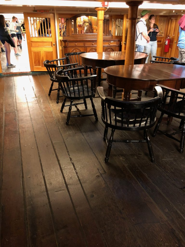 Below deck on the USS Constitution
