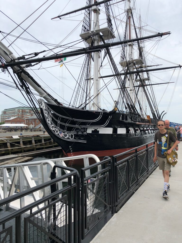 The USS Constitution (and a random dude)