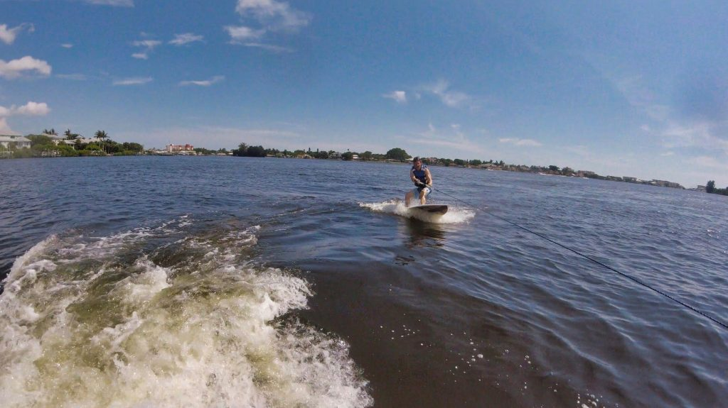 Me, wakesurfing